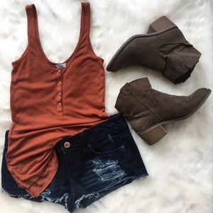 Suede Ankle Booties